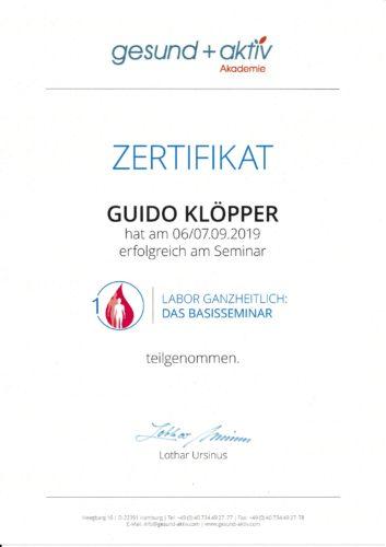 Zertifikat: Labor ganzheitlich