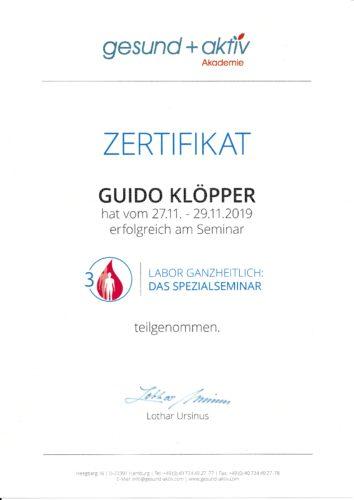 Zertifikat Labor: Spezialseminar